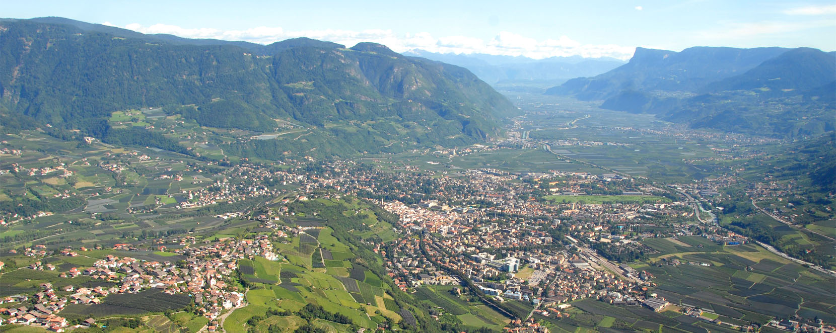Panorama Merano and Tirolo South Tyrol