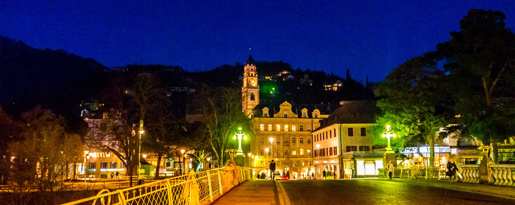 Merano panoramic night spa town